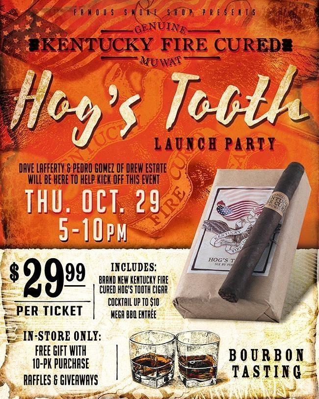 Cigar News: Drew Estate Announces Hog's Tooth, Famous Smoke Shop Exclusive