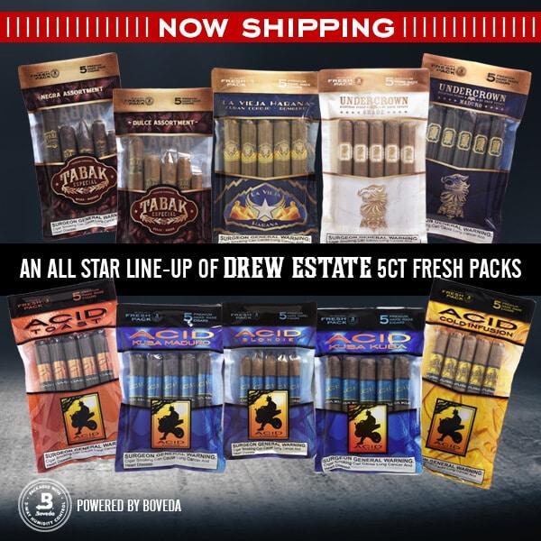 Cigar News: Drew Estate Ships Humidified 5-Packs