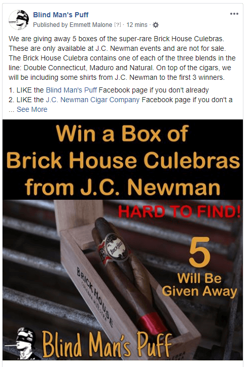 Contest: Win a box of Brick House Culebras from J.C. Newman