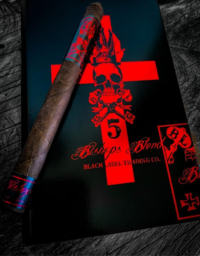 Cigar News: Black Label Trading Company Ships 5 Year Anniversary Bishops Blend Lancero