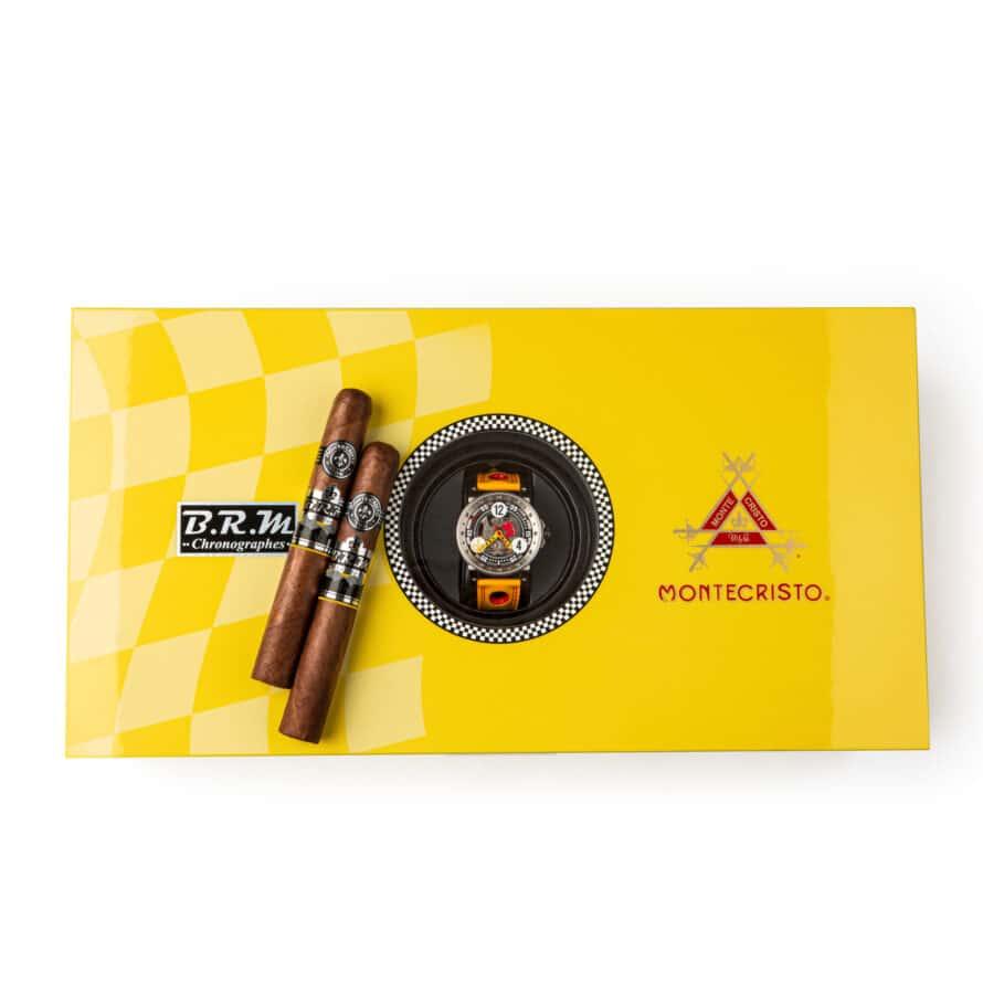 Montecristo Announces B.R.M Humidor with Timepiece - Cigar News